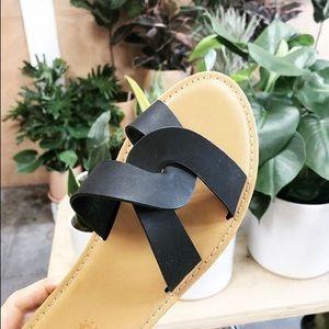 Vegan leather sandals